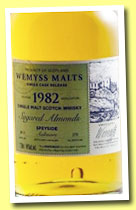 Aultmore 1982/2012 (46%, Wemyss Malts, 'Sugared almonds', 272 bottles)