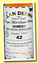 Ben Nevis 42 yo 1969/2012 (47.8%, Clan Denny for The Whisky Fair, refill hogshead, ref #DL8148)