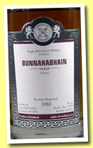 Bunnahabhain 1980/2012 (46.8%, Malts of Scotland, bourbon hogshead, cask #MoS 12038, 220 bottles)