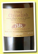 Clynelish 1983/2002 (47%, Samaroli for A. Bleve Roma, cask #2685, 306 bottles)