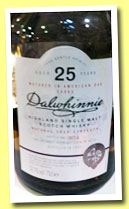 Dalwhinnie 25 yo 1987/2012 (52.1%, OB, Special Release, 5358 bottles)