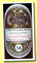 Glen Grant 58 yo 1953/2012 (47.9%, Gordon & MacPhail for LMDW, 1st fill sherry butt, cask #2604)