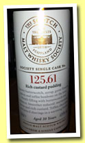 Glenmorangie 10 yo (61%, Scotch Malt Whisky Society, #125.61, 'Rich custard pudding', +/-2012)