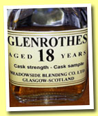 Glenrothes 18 yo 1994/2012 (50.7%, The Maltman)