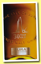 Isle of Jura 30 yo (44%, OB, 2012)