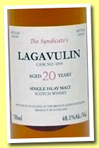 Lagavulin 20 yo 1990/2012 (48.1%, The Syndicate, cask #4395, 261 bottles)