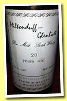 Miltonduff-Glenlivet 20 yo (95.5° proof UK, Forth Wines Ltd Milnathort, +/-1970)