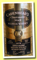 Mosstowie 28 yo 1970/1998 (59.6%, Cadenhead, Chairman's Stock, bourbon barrel, 198 bottles)