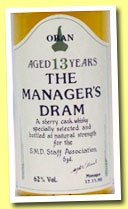 Oban 13 yo 'Manager's Dram' (62%, OB, screw cap, 1990)