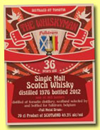 Tomatin 36 yo 1976/2012 (49,3%, The Whiskyman for Fulldram, 103 bottles)