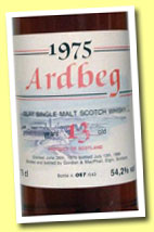 Ardbeg 13yo 1975/1988 (54.2%, Gordon & MacPhail for Intertrade, sherry wood)