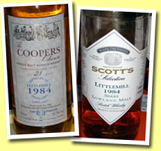 Littlemill 21yo 1984/2006 (58.7%, Cooper's Choice)
