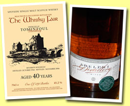 Tomintoul 40yo 1966/2006 (45.2%, The Whisky Fair, 139 bottles)