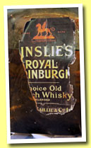 Ainslie's Royal Edinburgh (OB, blend, Ainslie, Baillie & Co, +/-1920)