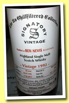 Ben Nevis 20 yo 1992/2013 (46%, Signatory, Un-chilfiltered Collection, sherry butt, cask #2308, 751 bottles)