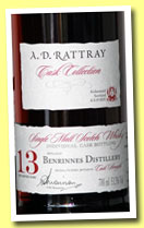 Benrinnes 13 yo 1998/2012 (53.5%, A.D. Rattray, sherry butt, cask #6850, 499 bottles)