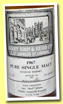 "Pure Single Malt 1967/1981 (43%, Berry Bros & Rudd, for Soc. ""Best"" Milano, Screw Cap, 75cl)"