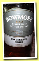 Bowmore '100 Degrees Proof' (57.1%, OB, +/-2013)