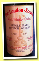 Royal Brackla 12 yo (65%, James MacArthur, The London Scottish Malt Whisky Society, cask #4782, +/-1985)