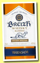Breizh (42%, OB, Warenghem, France, blend, +/-2013)