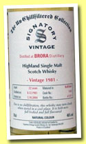 Brora 22 yo 1981/2004 (46%, Signatory, Un-chilfiltered Collection, refill butt, cask #1560, 851 bottles)