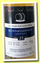 Bunnahabhain 21 yo 1991/2012 (49.1%, Single Cask Collection, bourbon hogshead, cask #5468, 290 bottles)