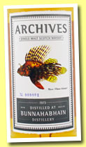 Bunnahabhain 40 yo 1973/2013 (50.6%, Archives, butt, cask #3463, 156 bottles)
