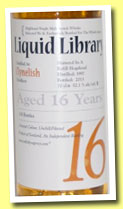 Clynelish 16 yo 1997/2013 (52.1%, The Whisky Agency, Liquid Library)