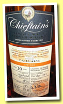Dailuaine 30 yo 1982/2013 (52%, Chieftain's, hogshead, cask #3893, 282 bottles)