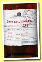 Dewar_House 17 yo 'Experimental Batch N.A39' (58.9%, OB, blend, sherry finish, 2012)