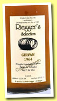 Girvan 47 yo 1964/2011 (48.7%, Riegger's Selection, bourbon, cask #86, 189 bottles)