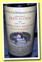 Glen Scotia 21 yo 1991/2013 (46%, Signatory for Waldhaus am See, cask #1047, 297 bottles)
