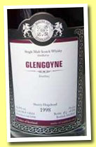 Glengoyne 1998/2012 (54.8%, Malts of Scotland, sherry hogshead, cask #MoS 12024, 258 bottles)