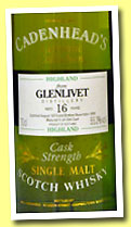 Glenlivet 16 yo 1974/1990 (55.2%, Cadenhead, Authentic Collection)