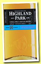Highland Park 10 yo (40%, OB for Germany and Holland, 35cl, +/-2013)