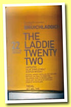 Bruichladdich 22 yo 'The Laddie Twenty Two' (46%, OB, 2012)