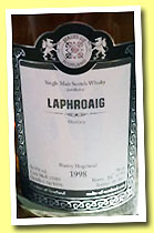 Laphroaig 1998/2013 (56.8%, Malts of Scotland, sherry hogshead, cask #MoS 13005, 198 bottles)