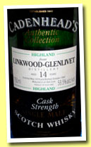 Linkwood-Glenlivet 14 yo 1979/1993 (58.5%, Cadenhead, Authentic Collection)