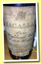 Macallan 1946 (80° proof, OB, Campbell Hope & King, cork, 26 2/3 fl ozs, +/-1961)