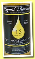 Mortlach 16 yo 1997/2013 (51%, Liquid Treasures, bourbon hogshead, 176 bottles)