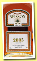 Neisson 2005/2012 (45.8%, OB for Velier and La Maison du Whisky, agricole, Martinique)