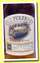 Old Pulteney 15 yo 1982/1998 'Millenium' (60%, OB, Japan, sherry, cask #1300)