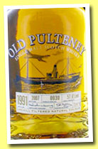 Old Pulteney 1991/2007 (57.6%, OB, cask #0030)