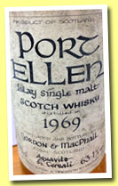 Port Ellen 1969 (63.1%, Gordon & MacPhail for Donini, +/-1980)