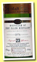 Port Ellen 23 yo 1978/2001 (50%, Douglas Laing, Old Malt Cask, sherry finish, 764 bottles)