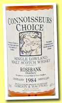 Rosebank 1984/1996 (40%, Gordon & MacPhail, Connoisseur's Choice, old map label)