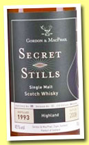 Secret Stills 'Highland' 1993/2008 (45%, Gordon & MacPhail, Van Wees, first fill sherry butt, cask #779, 860 bottles)