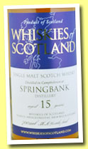 Springbank 15 yo (56.6%, Whiskies of Scotland, 2012)