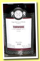 Tormore 1998/2013 (55.4%, Malts of Scotland, sherry butt, cask #MoS 12041, 524 bottles)