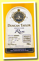 West Indies 25 yo 1986/2012 (52.7%, Duncan Taylor, Barbados, cask #16, 244 bottles)